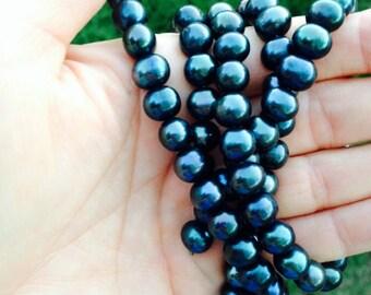 Dark Teal Freshwater Pearls