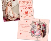 Valentine's Day Card Template for Photographers - INSTANT DOWNLOAD