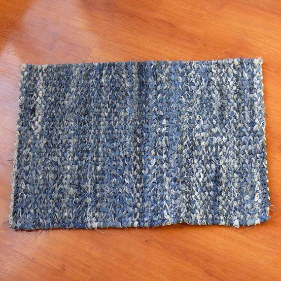 Denim Blue Twined Rag Rug By SnowmanCollector On Etsy