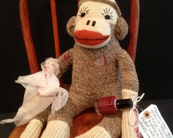 Claudie May - Vintage Sock Monkey