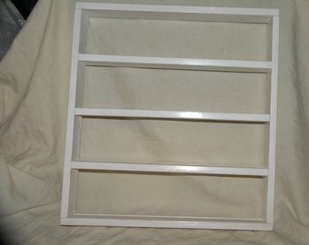 """Handcrafted Solid Wood White Painted Miniature Plates Wall Display Shelf holds 3""""plates or smaller"""