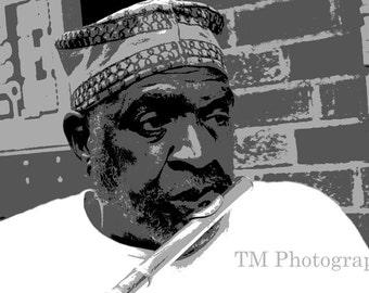 Flute - Portrait - Street Musician - Musician - Entertainment - Flute Player - Fine Art Photography