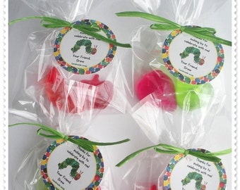 Very Hungry Caterpillar Favors Handmade Soap (20 complete favors with tags-40 soaps)