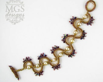Sine Wave Bracelet - Beading Pattern/Tutorial Downloadable PDF