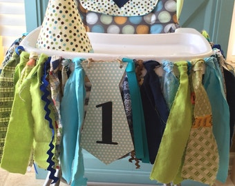 Little Man Birthday Banners, Little Man High Chair & Birthday Banners, Mustache Ties, Smash Cake Boys Birthday Party photo Props, 3 banners