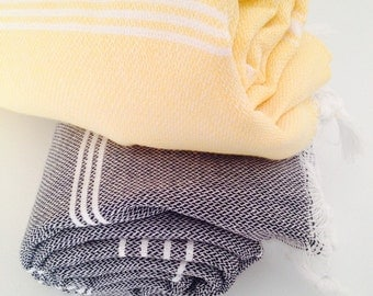 2 Beach Towels,set Eco Friendly Peshtemal,High Quality Hand Woven Turkish Cotton Bath,Beach,Spa,Yoga,Pool Towel