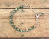 Tree Agate and Crystal Bracelet