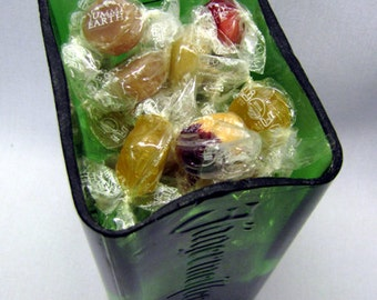 Jager Shot Candy Dish, Jagermeister, Yummy Earth, Fruit, Ginger, Green, Organic, Vegan, Kosher, Glass, Upcycled, Recycled
