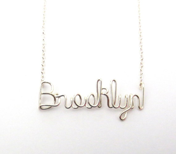Sterling Silver Name Necklace. Personalized Sterling Silver Name Necklace