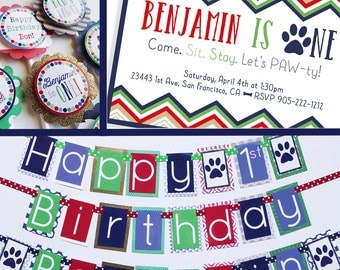 """Puppy Dog Birthday Party Decorations Package Fully Assembled """"Birthday Pawty"""""""