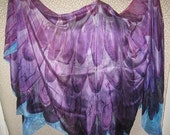 Purple Wings- Hand Painted Silk Belly Dance Veil Evening Wrap