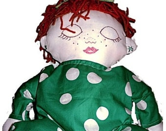 Custom Sleeping Boy or Girl Custom Rag Doll With 2 Outfits/ New Baby or Adoption Baby Gift