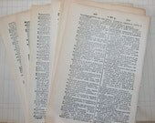 15 Vintage French/English Dictionary of Pages