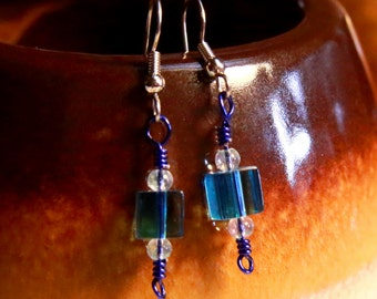 Little Blue Ice Cubes Earrings
