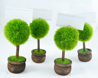 Mini Tree Place Card Holders, Placecard, Fall Card Holders, Tea Party