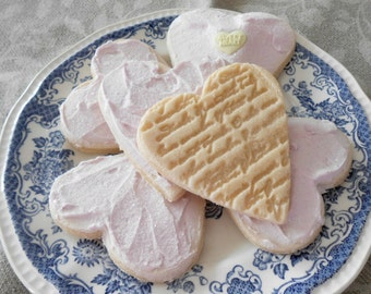 Six Fake Valentine Heart Shaped Cookies Food Staging Home Staging Decor