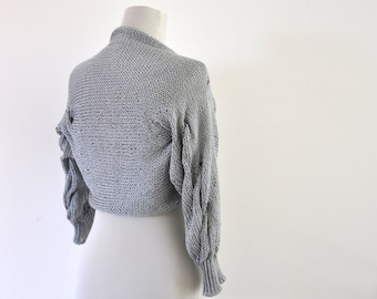 Silver Shrug Bolero Bridal Shrug Bridal Accessories Elegant Wedding Gray Grey