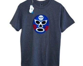 Luchador Azul - Blue Mexican Wrestler Men's T-Shirt
