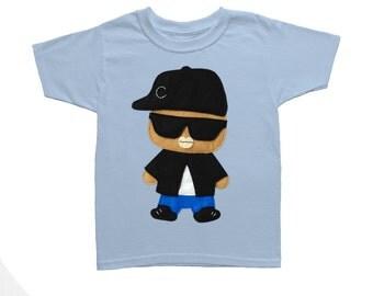 Rad Rapper - Big Sunglasses - Toddler T-Shirt [LIGHT BLUE]