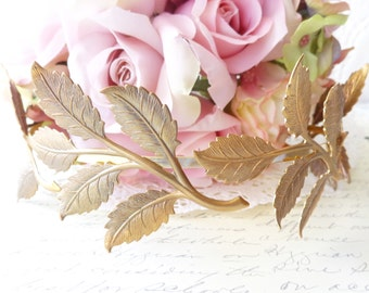 Leaf Branch Headband - Gold Headband - Bridal Crown - Leaf Spray - Woodland Collection - Whimsical - Nature - Bridal -Egyptian Goddess Crown