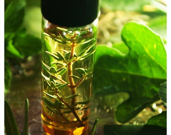 the gunslinger natural perfume oil in mix of leather, sandalwood, tobacco-caramel and rose in 1/2 oz victorian apothecary bottle