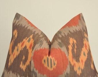 Ikat Pillow, Designer Pillow, Decorative Pillow, Throw Pillow, Toss Pillow, Sofa Pillow, Home Furnishing, Home Decor, Made in USA