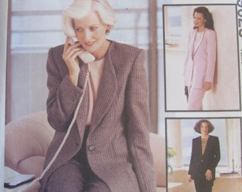 McCalls 9023/Uncut Sewing Pattern/Misses/Women's Lined Jacket, Top/Blouse and Pants/Size 16/Bust 38