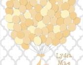 Baby Shower Guest Sign-In Print (Guestbook) - Multiple colors - Up to 75 guests