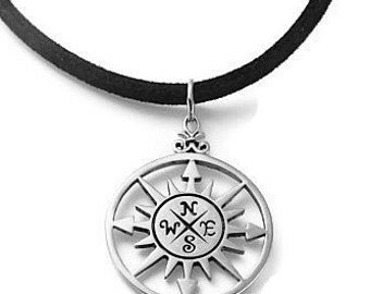 Compass -Mens Necklace |  Sterling Silver / Bronze Compass  | Directs Us to Home to Where Our Hearts Are | Gifts w Meaning | Mens Jewelry