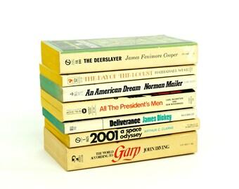 FINAL SALE Vintage 1970s Best Seller Novels Turned Motion Picture Paperback Set of 8 / Norman Mailer John Irving James Dickey James Cooper