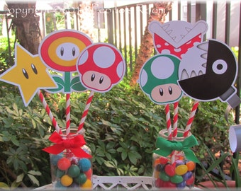 Print-INK Super Mario Bros. A La Carte Party Centerpieces - DIY Digital Printable PDF