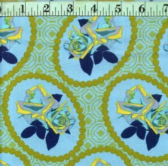 Garden party waltz fabric by the yard half yard fabric or for Garden party fabric by blackbird designs
