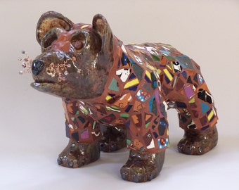 Mosaic Bear Sculpture - ******ON SALE*******Bear Necessities - Custom Pieces Available Upon Request