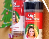 Personalized Gift Christmas Ornaments - Spices personalized with custom label of your photo, name, and recipe!