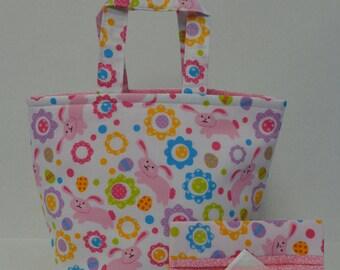Pink Bunnies Easter Tote Bag
