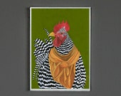 Art Print - Rooster - Signed by Artist - 8x10 // 16x20 // 22x28