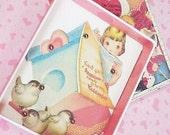 Handcrafted Valentine Game Box, Birdhouse Theme