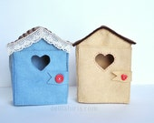 Little Felt Doll House Pattern - Tiny House for 4 inch Mini Dolls PDF Sewing Pattern