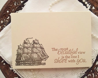 Wedding Wish Cards Vintage Nautical Ship Ocean Beach Theme Wedding Set of 25 Last Set Left