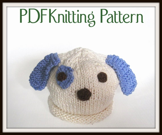 Knitting Patterns For Dogs Hats : Baby Puppy Dog Hat pattern knit Boston Beanies
