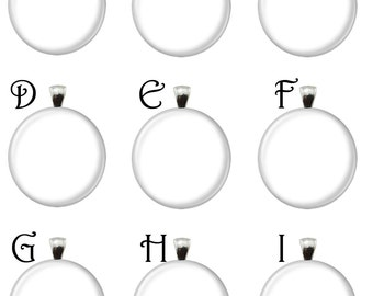 Multi 1 Inch Round Glass Pendant Template