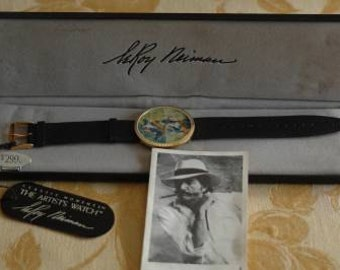 """Classic Moments Artist's Tennis Watch by Leroy Neiman """"Match Point"""" 77053"""