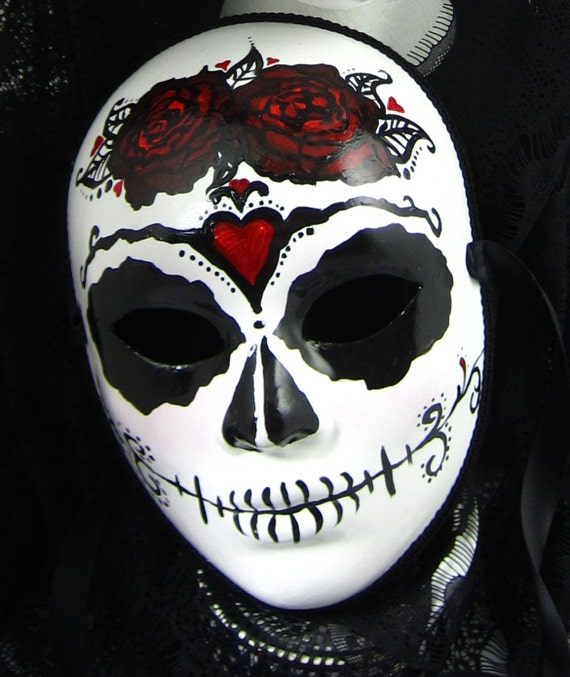 True Love Ways Male Mask Day of the Dead full faced paper