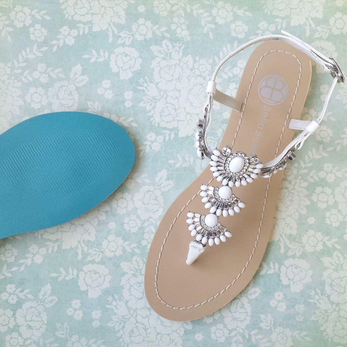 Something Blue Sole Wedding Sandals Shoes For Beach