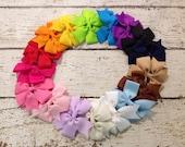 """3"""" Bows You Pick Color...Medium Bows...Baby Girl Bows...Pigtail Bows..."""