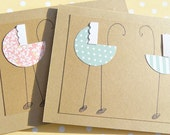 Cards for Twins - Twins Baby Shower Invitations - Congratulations on the Twins Cards -  Baby Buggy Cards - Twins Thank You Cards GBBC