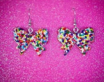 Sprinkle Bow Earrings