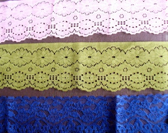 Vintage Lace, Three Colored Lace Trims