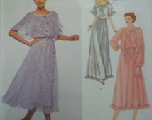 "Vogue 2125 Dress Sewing Pattern, size 10 bust 32 1/2"" American Designer Albert NIPON Pullover Dress Pattern"