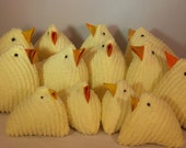 Spring Easter Chick Vintage Chenille Upcycled Chick Yellow Chenille Chick Egg Easter Chick Easter Decor Easter Baslet Spring Chick